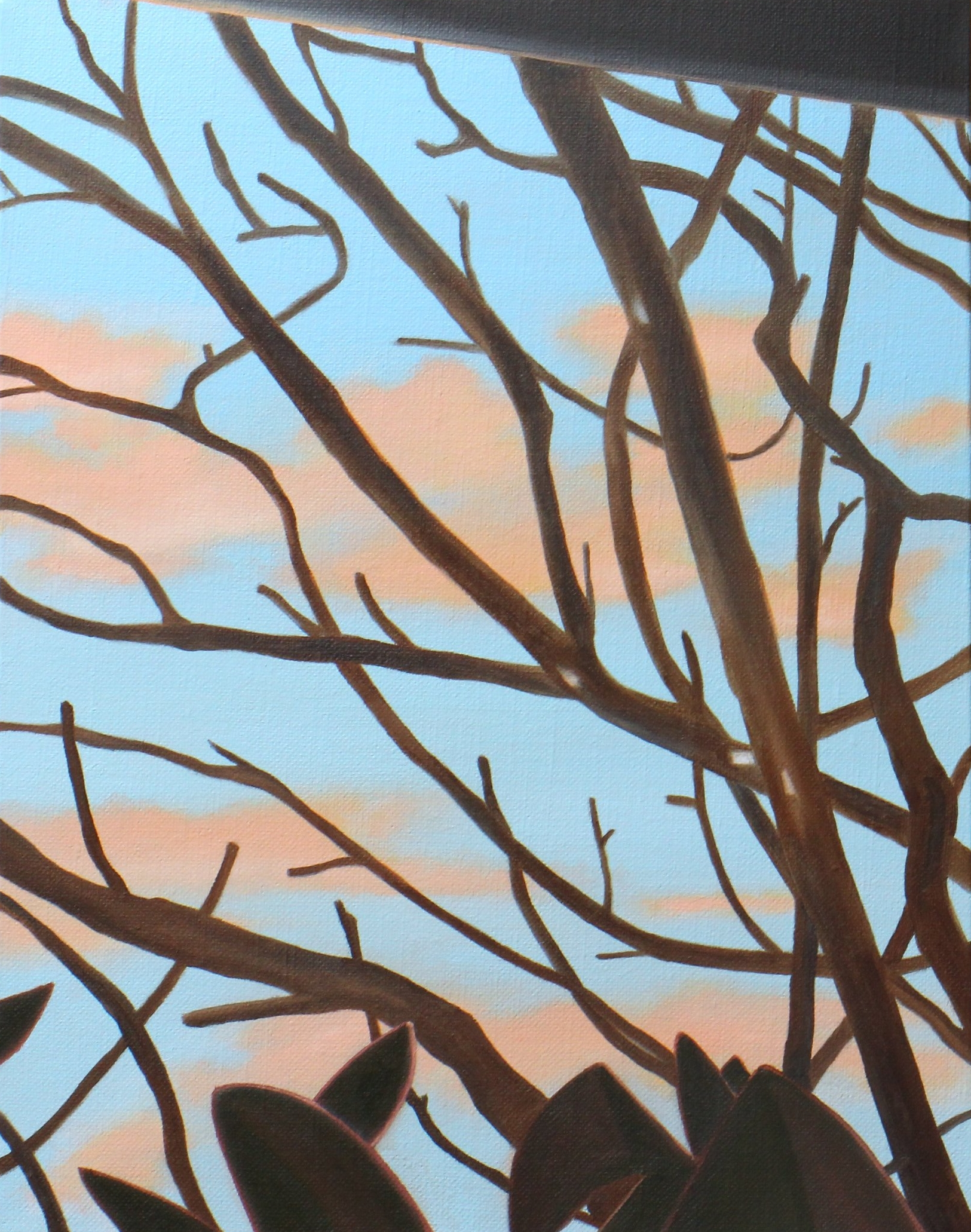 "Trees, 2017. Oil on linen 14"" x 11"""