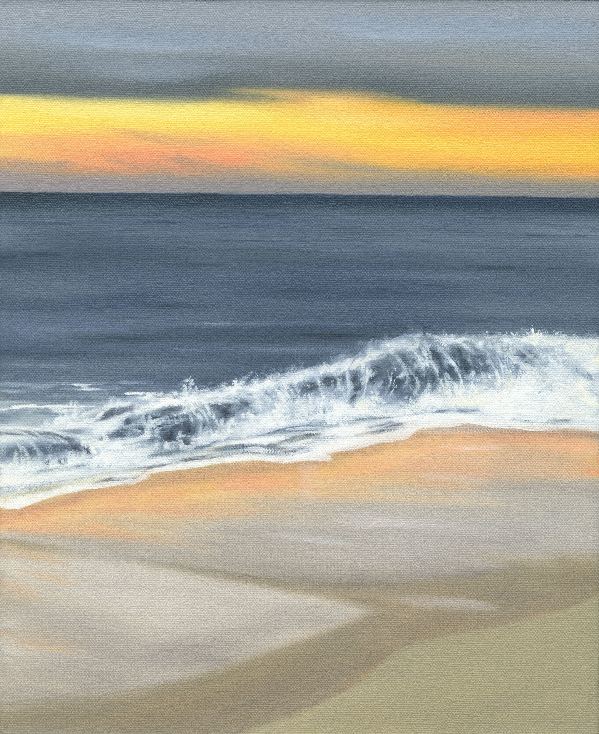 "Wave, 2017. Oil on canvas 12"" x 10"""