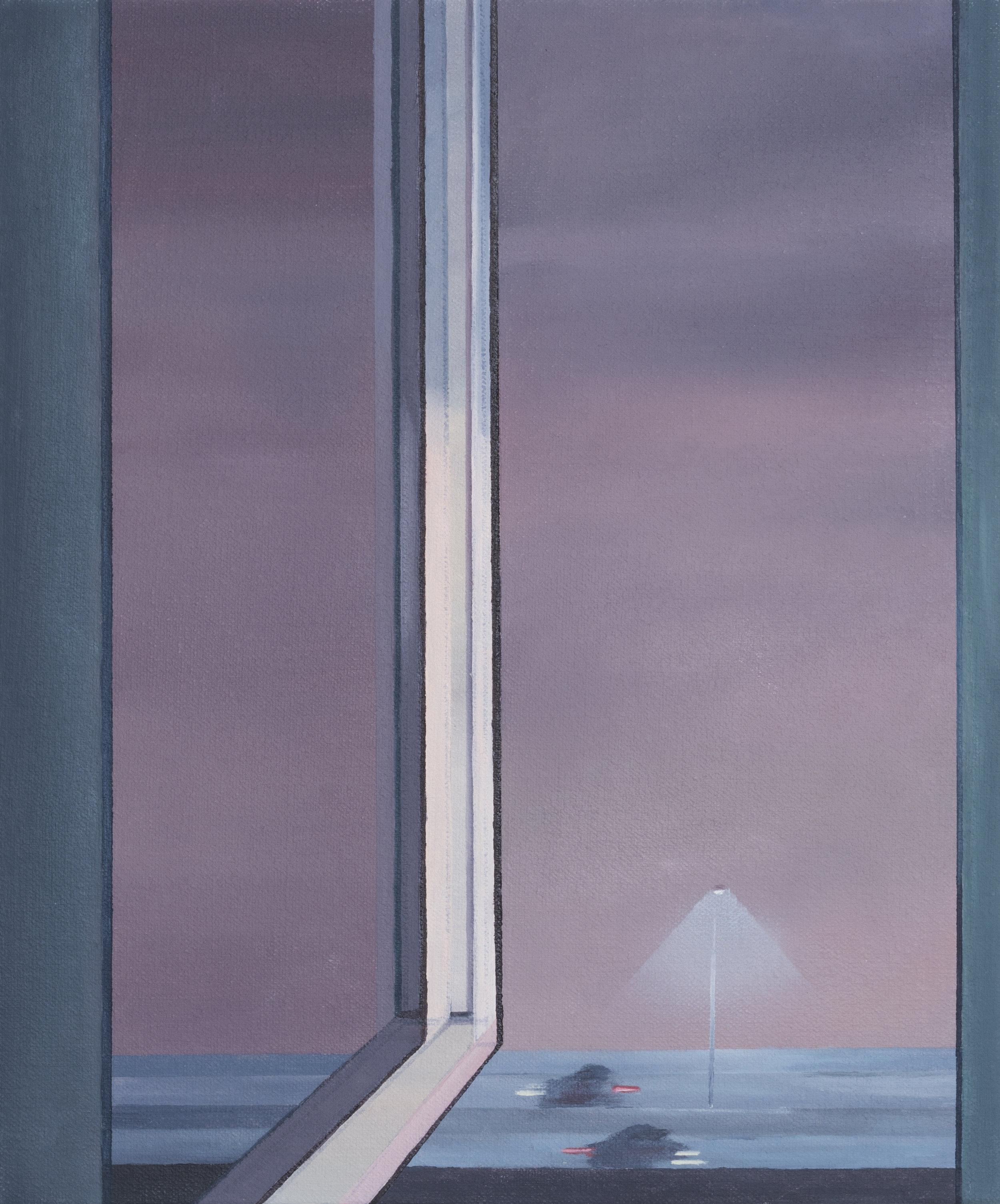 """Fog, 2018. Oil on canvas 12"""" x 10"""""""