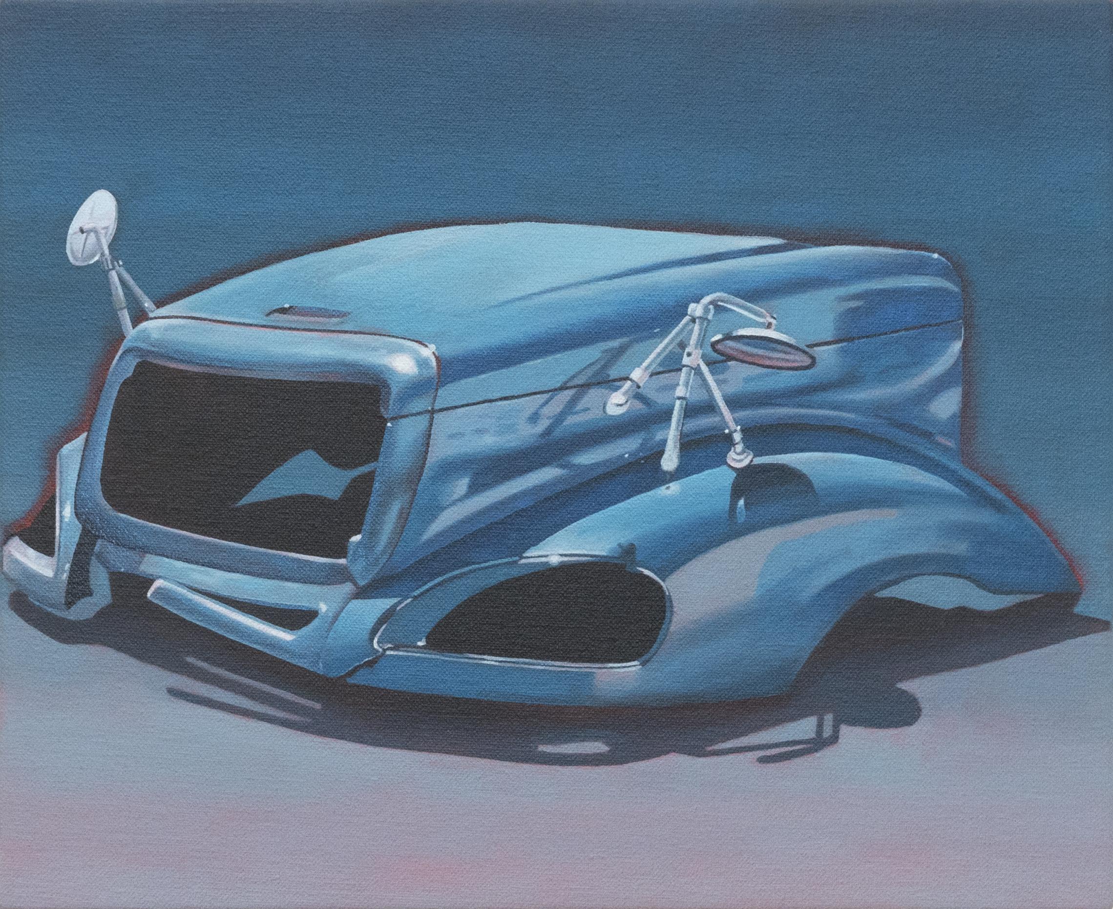 """Blue Bonnet, 2018. Oil on canvas 10"""" x 12"""""""