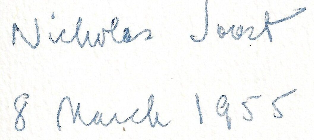 Nicholas Joost's signature, from the frontis piece of Eliade's  The Myth of the Eternal Return
