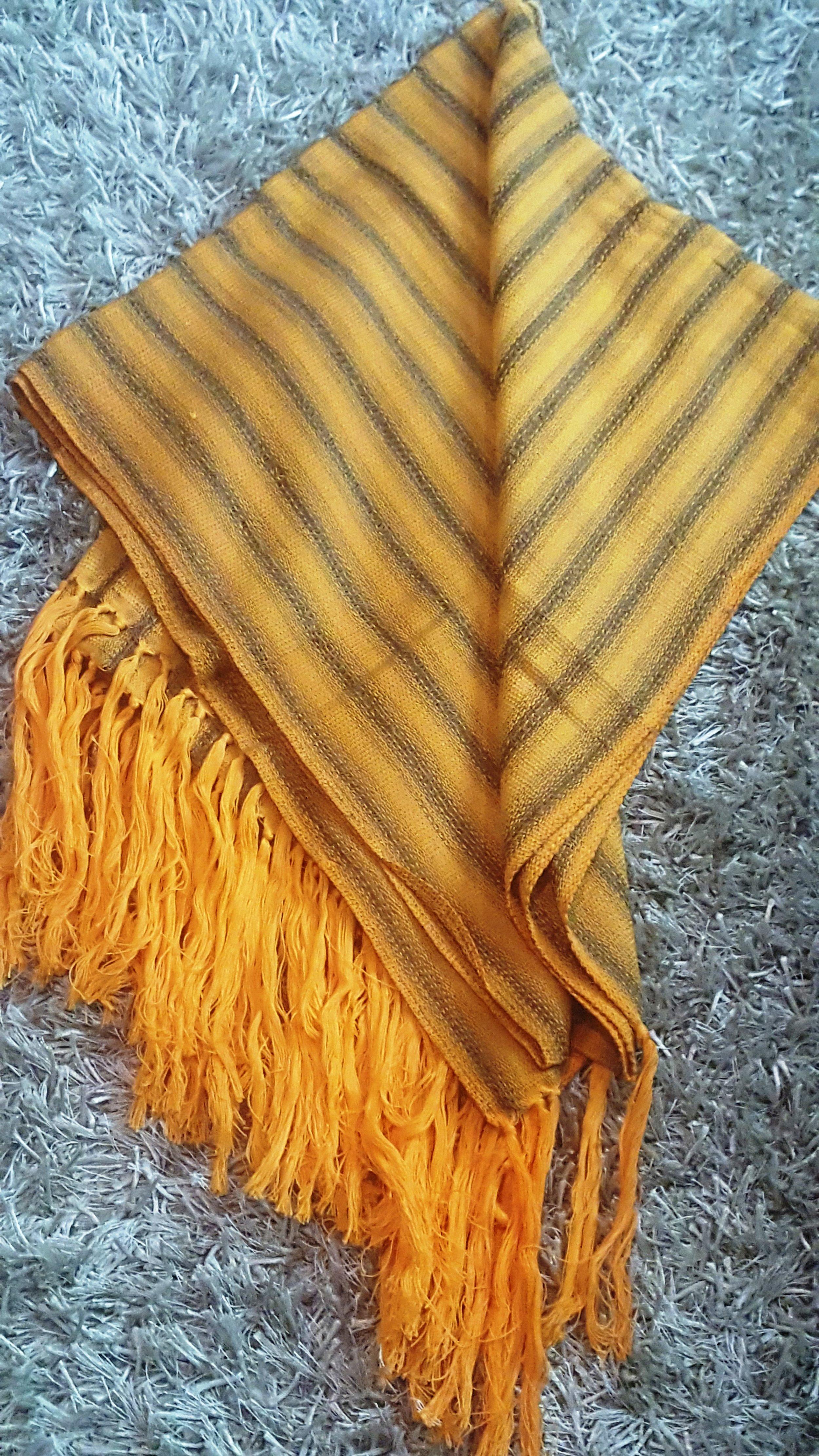 Etole, coton et viscose - Orange et taupe - 60 000 F CFA