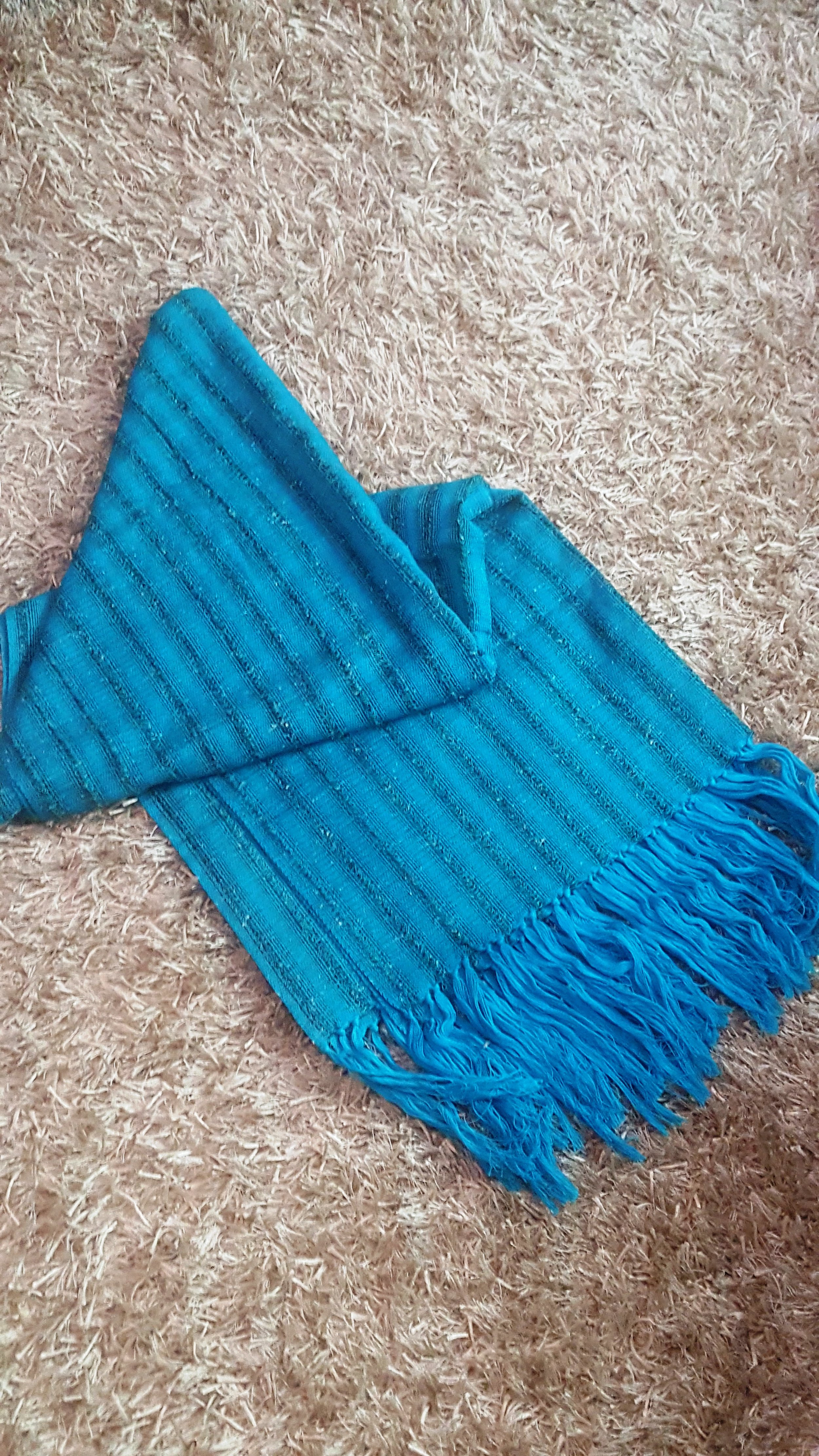 Etole, coton et viscose - Bleu turquoise - 60 000 F CFA