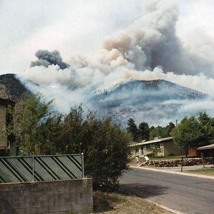 Radio fire, Mt. Elden, 1977