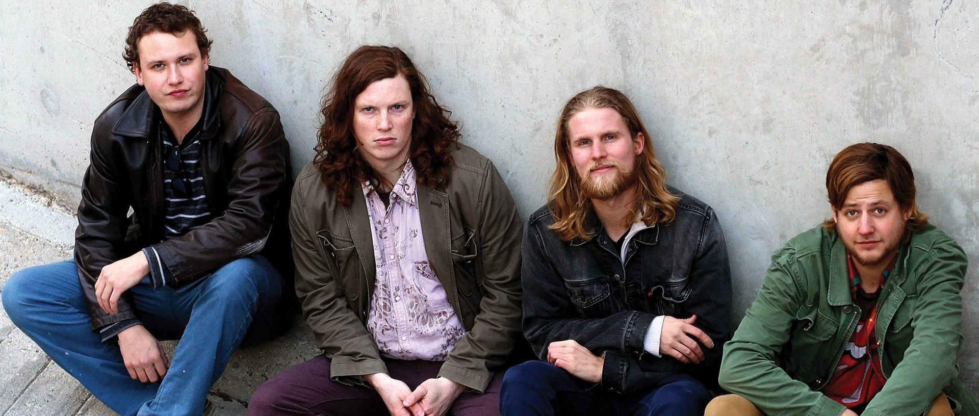 Left to right:  Joe Johnson (lead guitar),  Mitch Kruse (bass), Cody Goertzen (guitar, vocals), Adam Hill (drums)