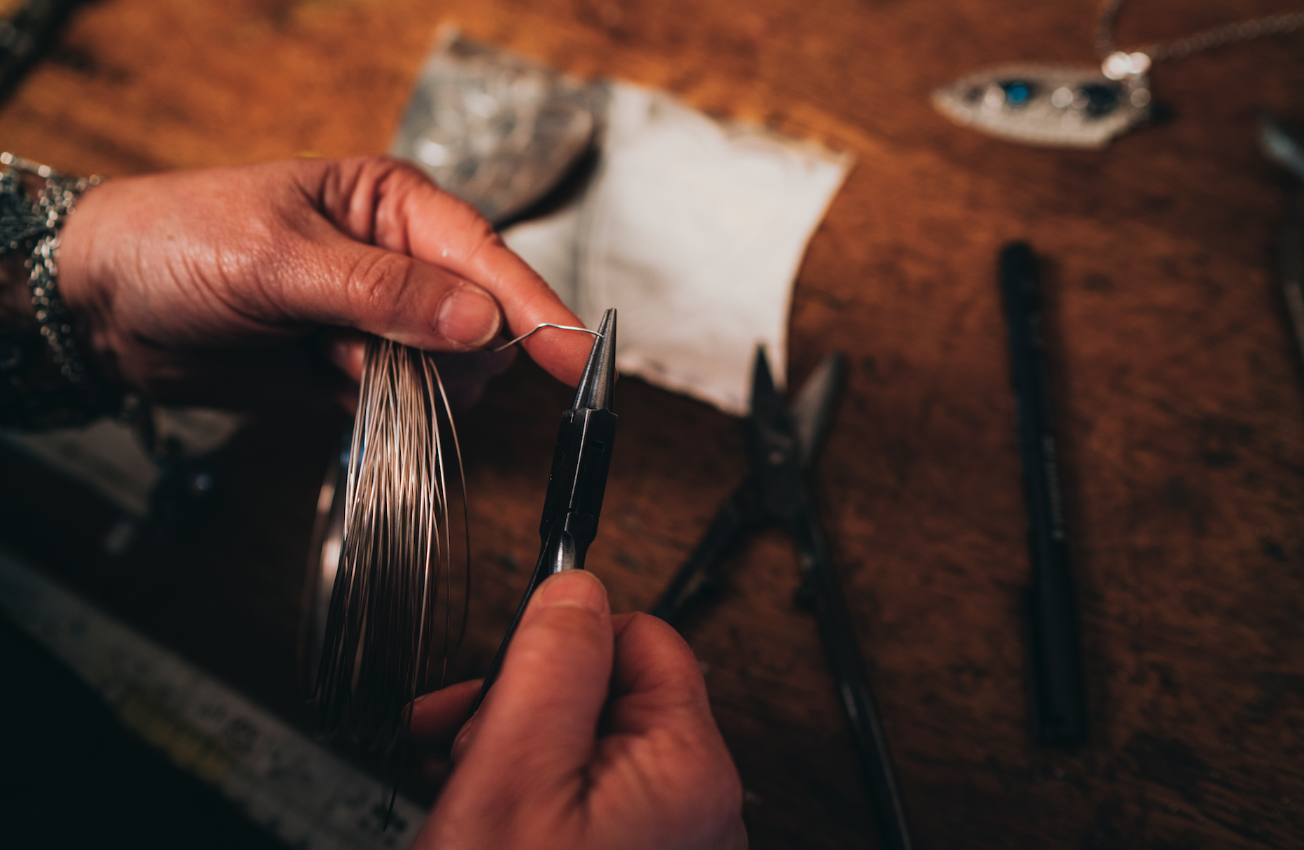 The making of the muse collection in the studio.