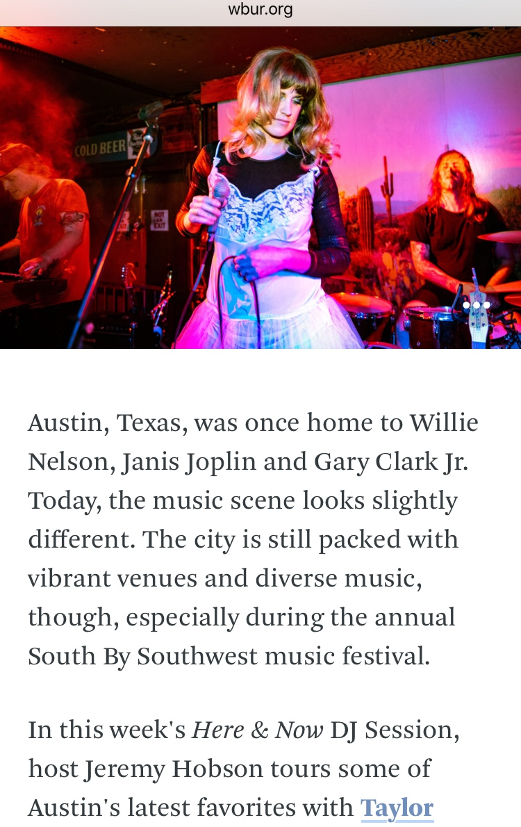 NPR's Here & Now with Jeremy Hobson - Go Fever was one of 5 bands featured in the Live In Austin special