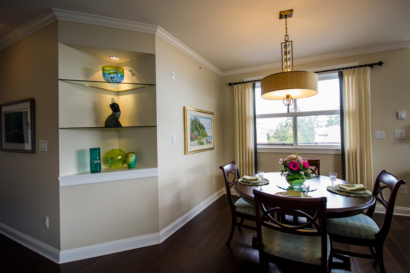 AFTER: Dining Area - Seats four on a daily basis and up to eight for celebrations.
