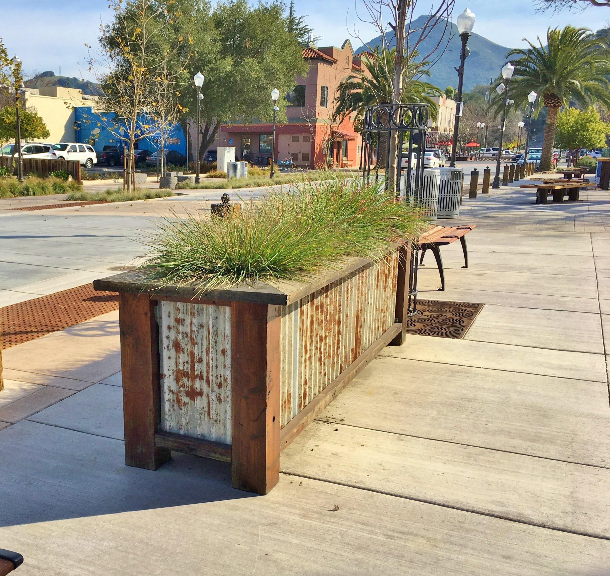 Raised Planter build of site salvaged materials