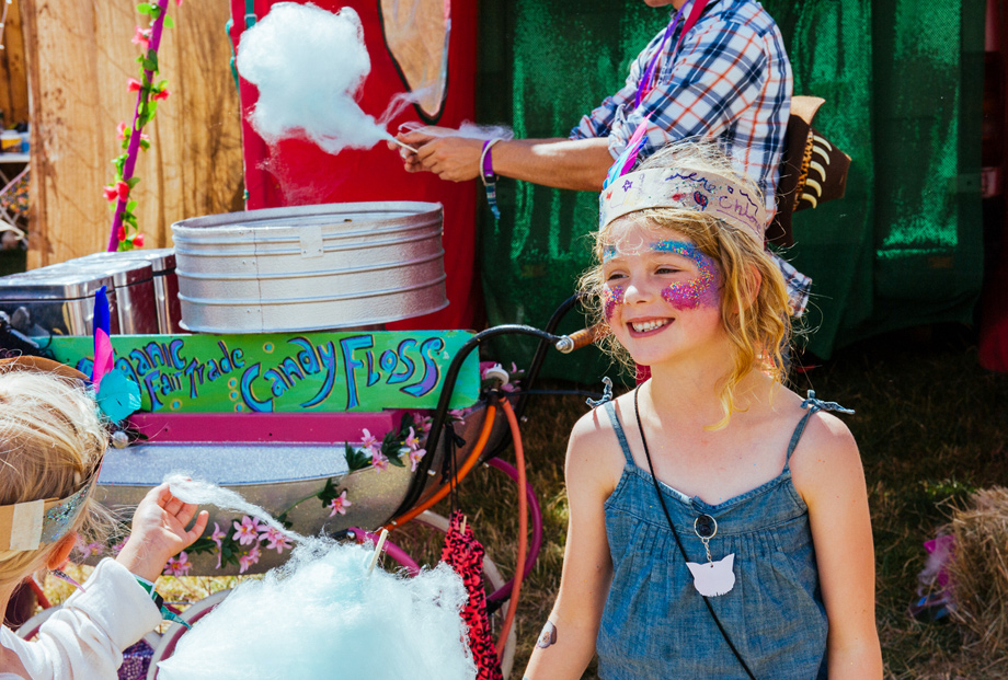 Face Painting and Candy Floss as Standon Calling Festival