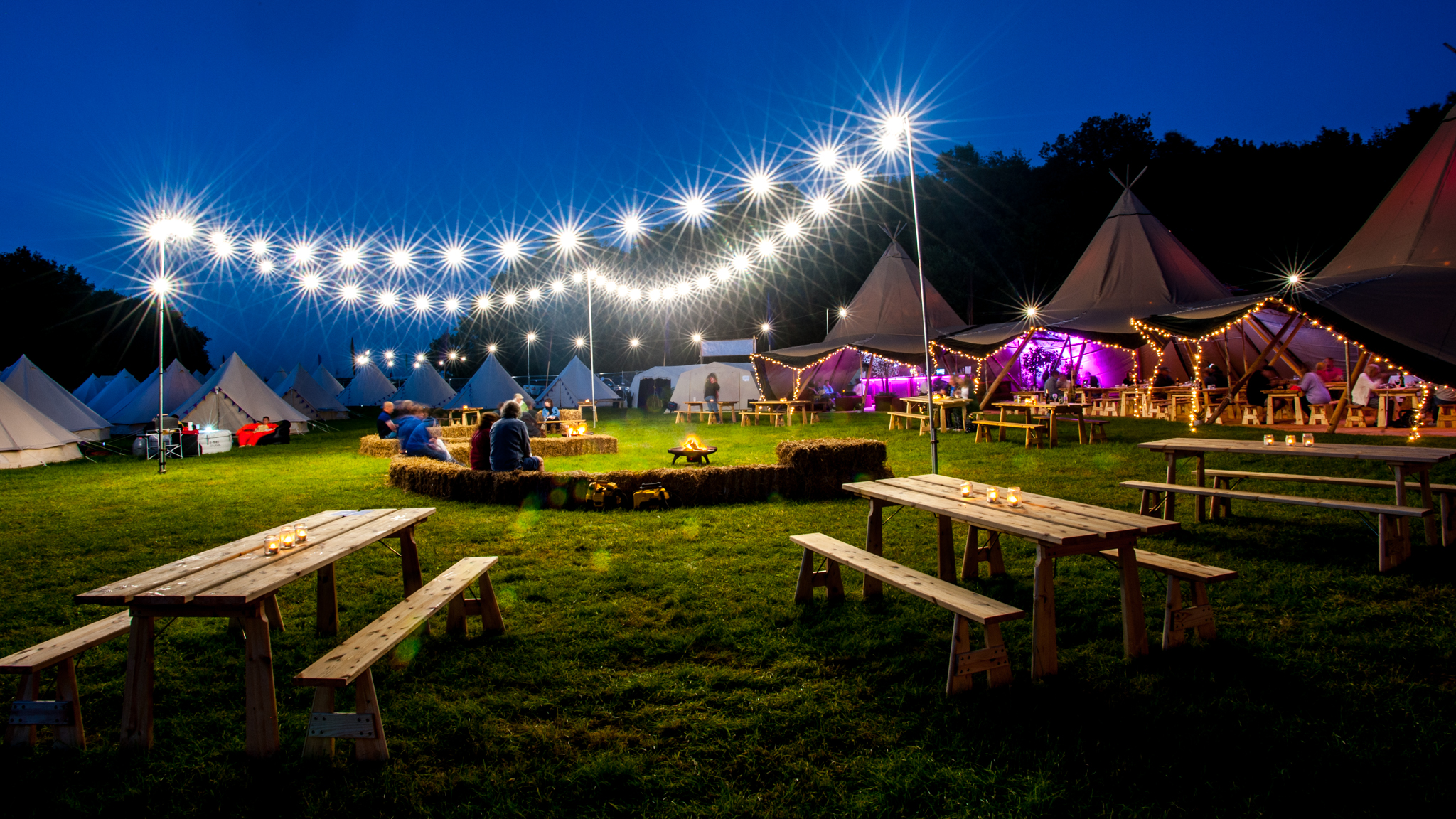 Hotel Bell Tent Sporting Events Night Time