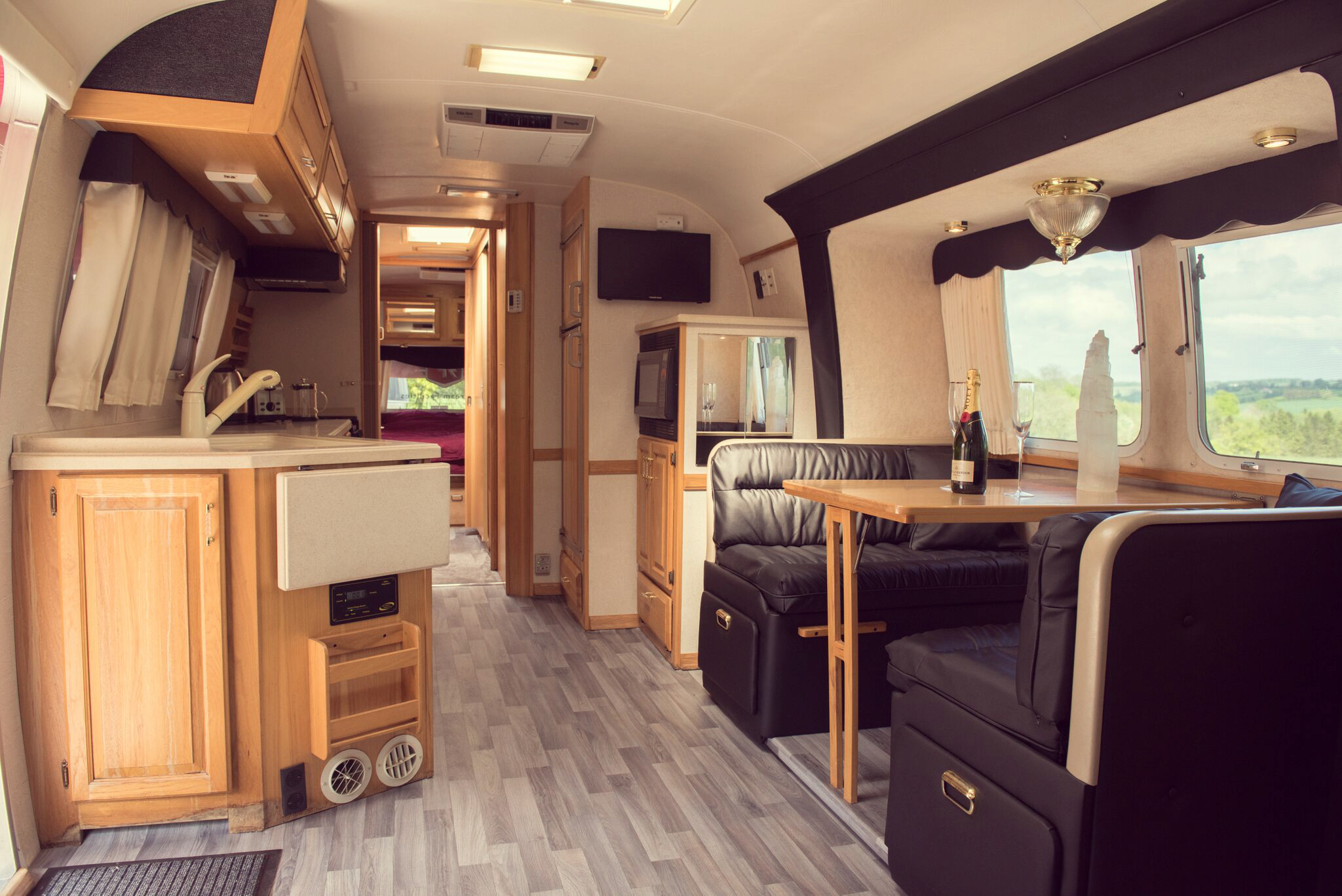 Hotel Bell Tent Accommodation Airstream Trailer Five Star