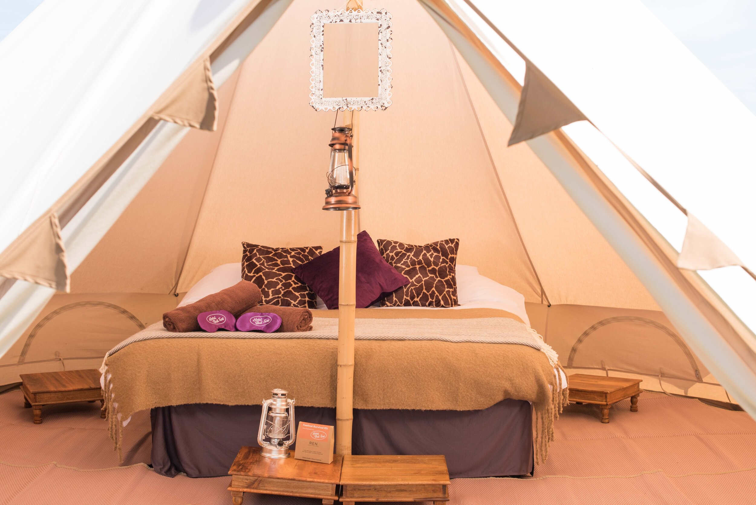 Hotel Bell Tent Deluxe Package