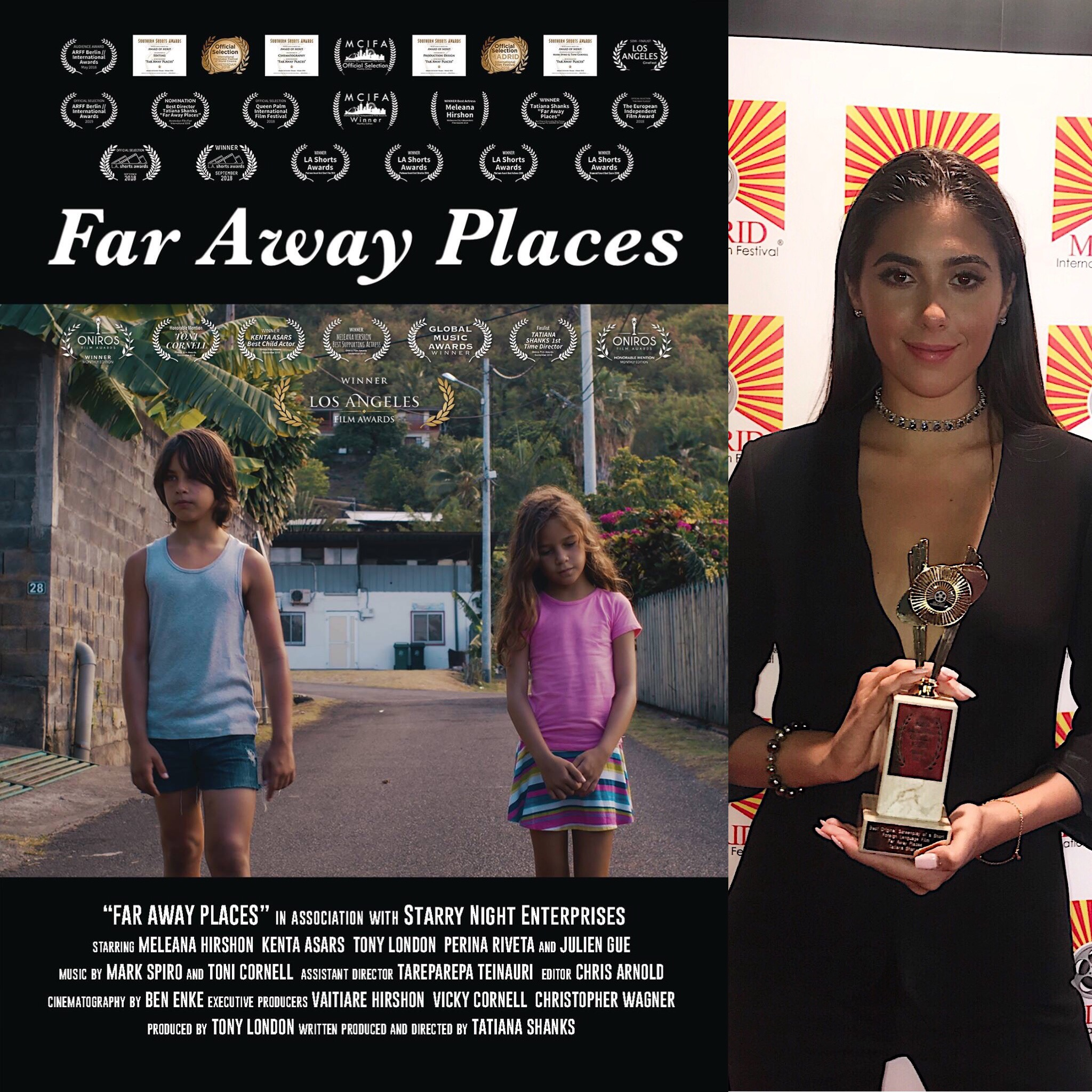 Far Away Places won 21 awards thanks to all the donators! -