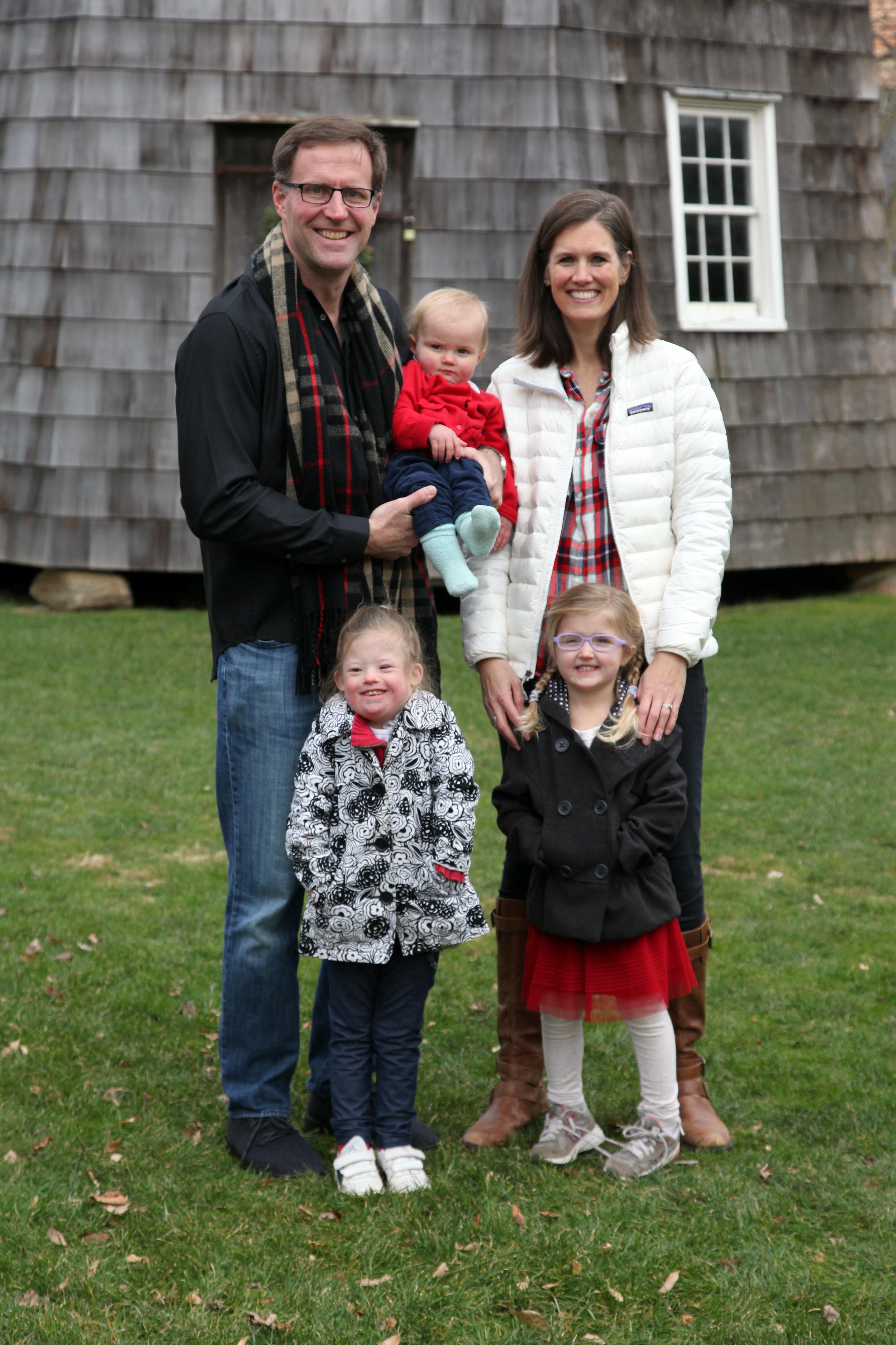 Sean, Paige, Jaya (6), Rayne (4), Edyn (1)