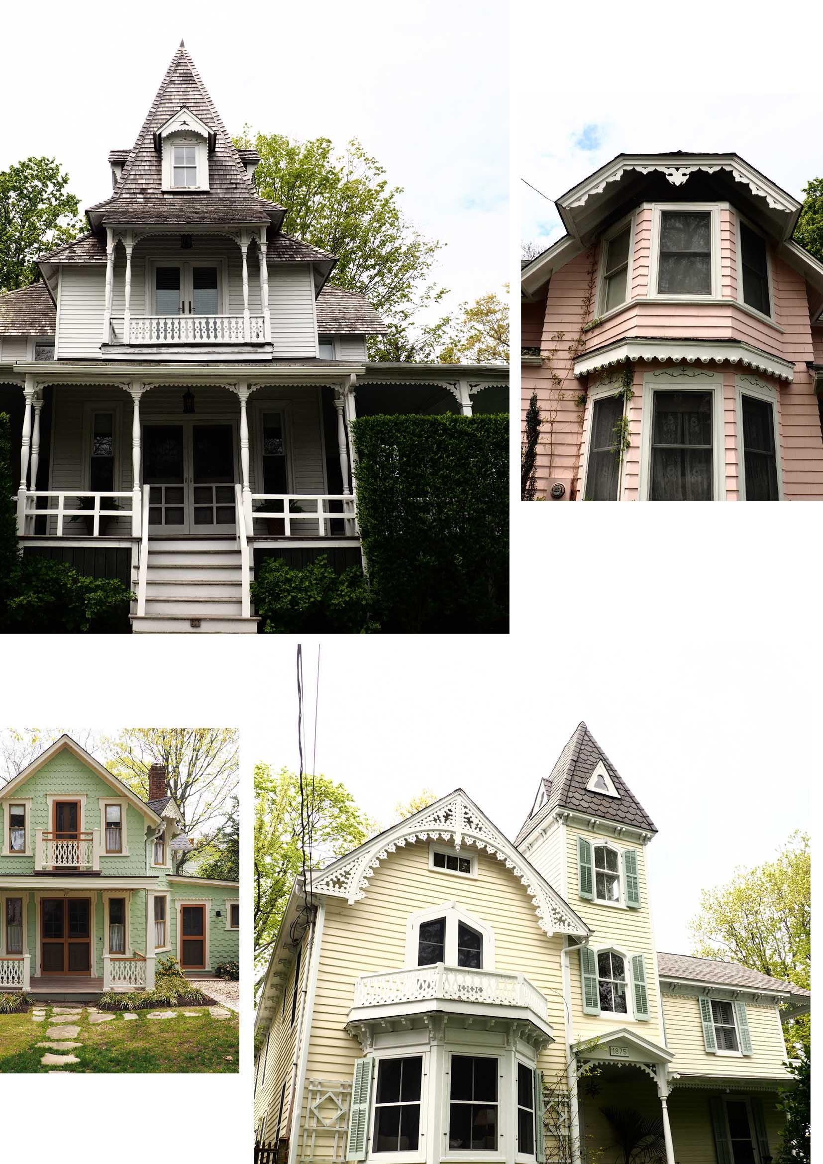 Shelter Island pastel houses!