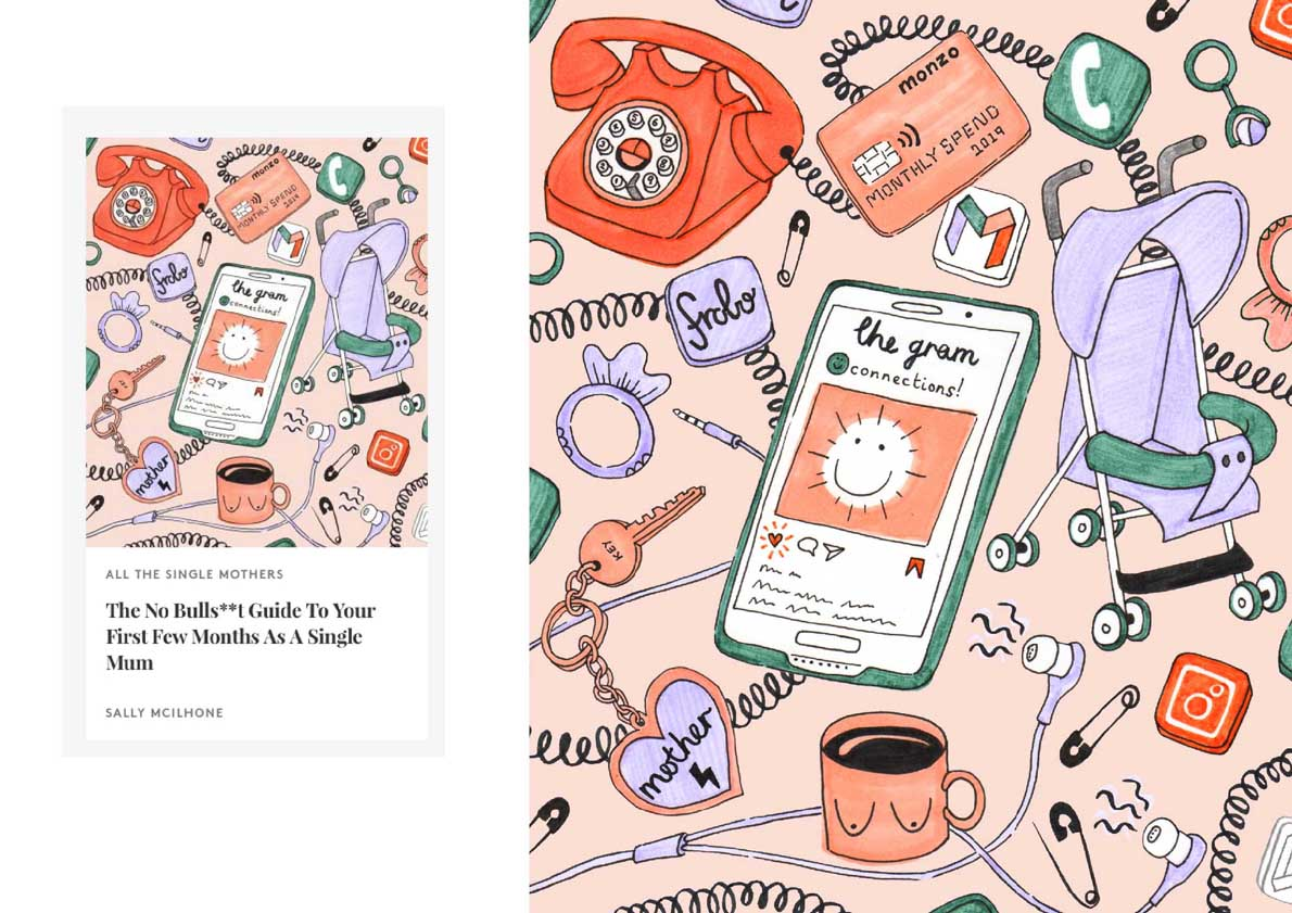 illustration work for Refinery 29