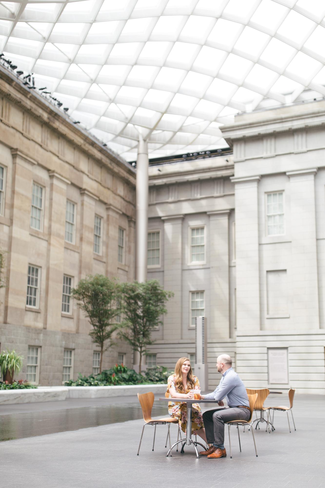 Smithsonian National Portrait Gallery Engagement Session | Maral Noori Photography | Washington DC | Atrium