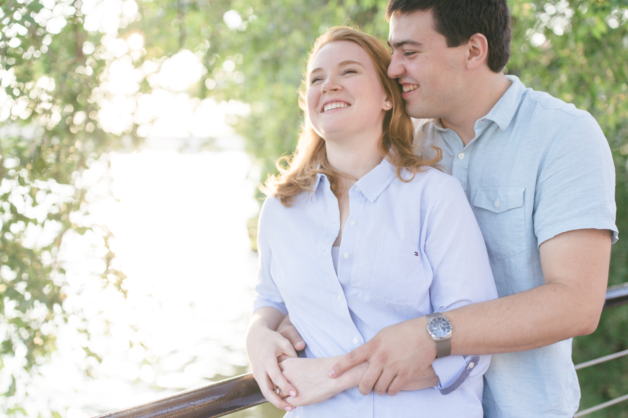 Georgetown Waterfront Engagement Session | Maral Noori Photography | Golden Hour