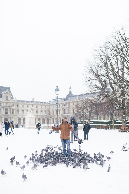 Paris, France Travel Blog   Tips   Tricks   Prints   Maral Noori Photography   Man with Pigeons