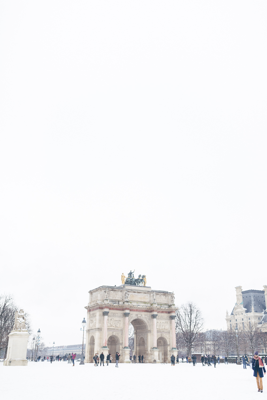 Paris, France Travel Blog   Tips   Tricks   Prints   Maral Noori Photography   Carrousel Arc de Triomphe Snow