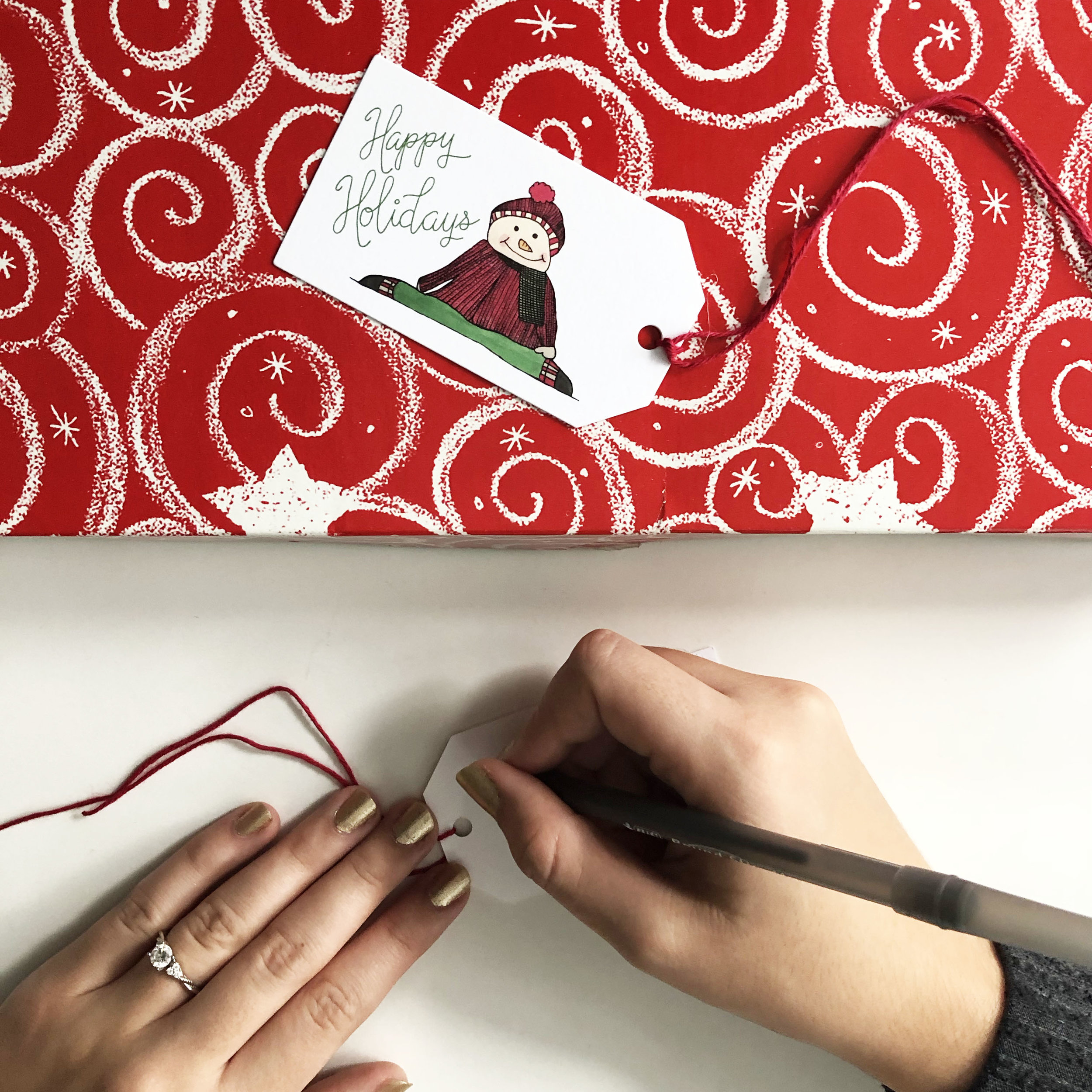Use this  cute gift tag  on your little one's Christmas presents.