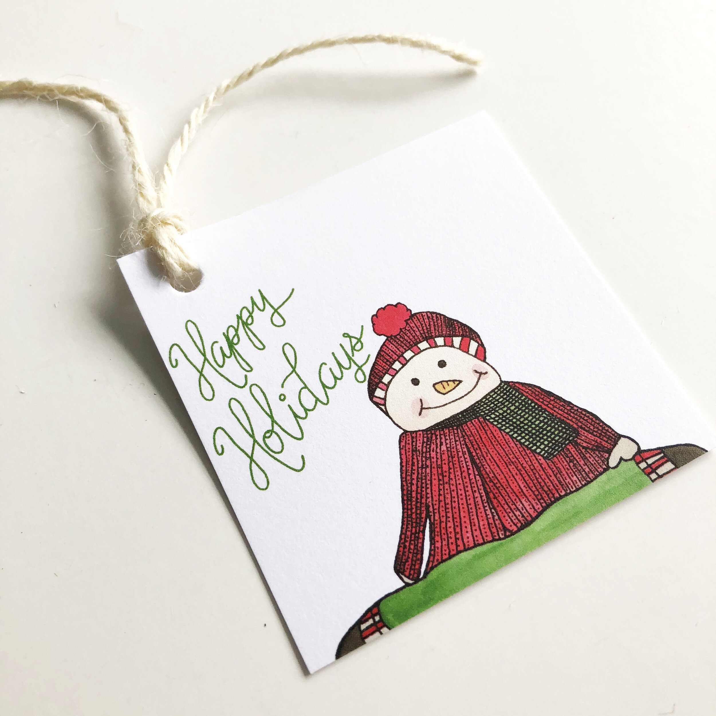This  Happy Holidays gift tag  set has also been reformatted this year.