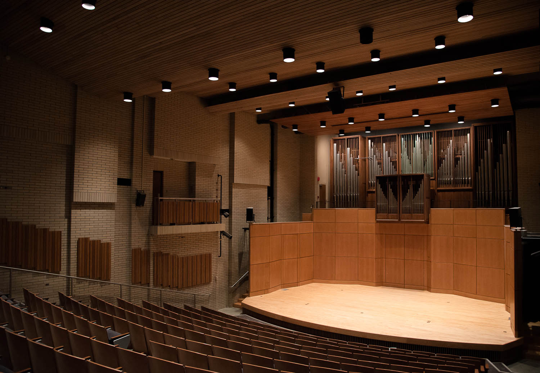 The 255-seat Barnett Hall in the UBC Music Building.  Photo: Dina MacDougall