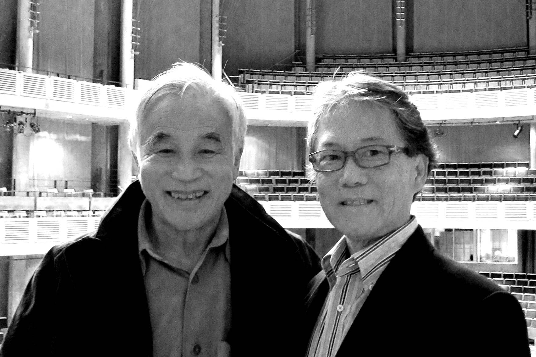 Tom Chan (right) with Chan Centre architect Bing Thom.