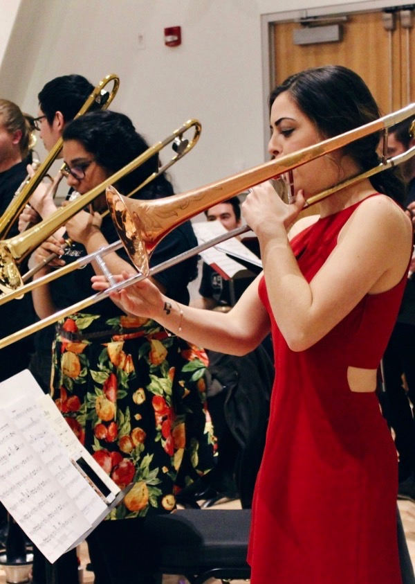 Fourth-year trombone student Janine King.  Photo courtesy Janine King
