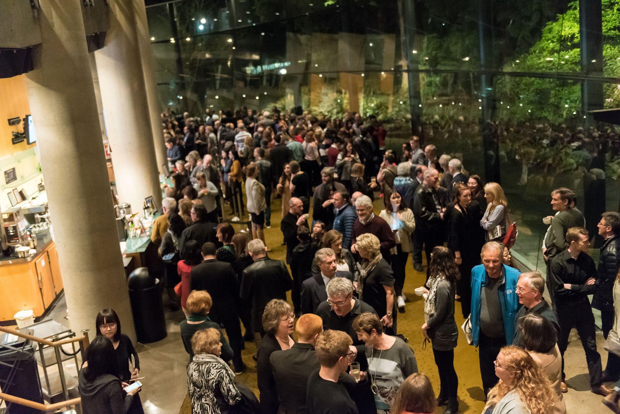 The Chan Centre atrium after the concert. Photo: Paul Joseph/UBC