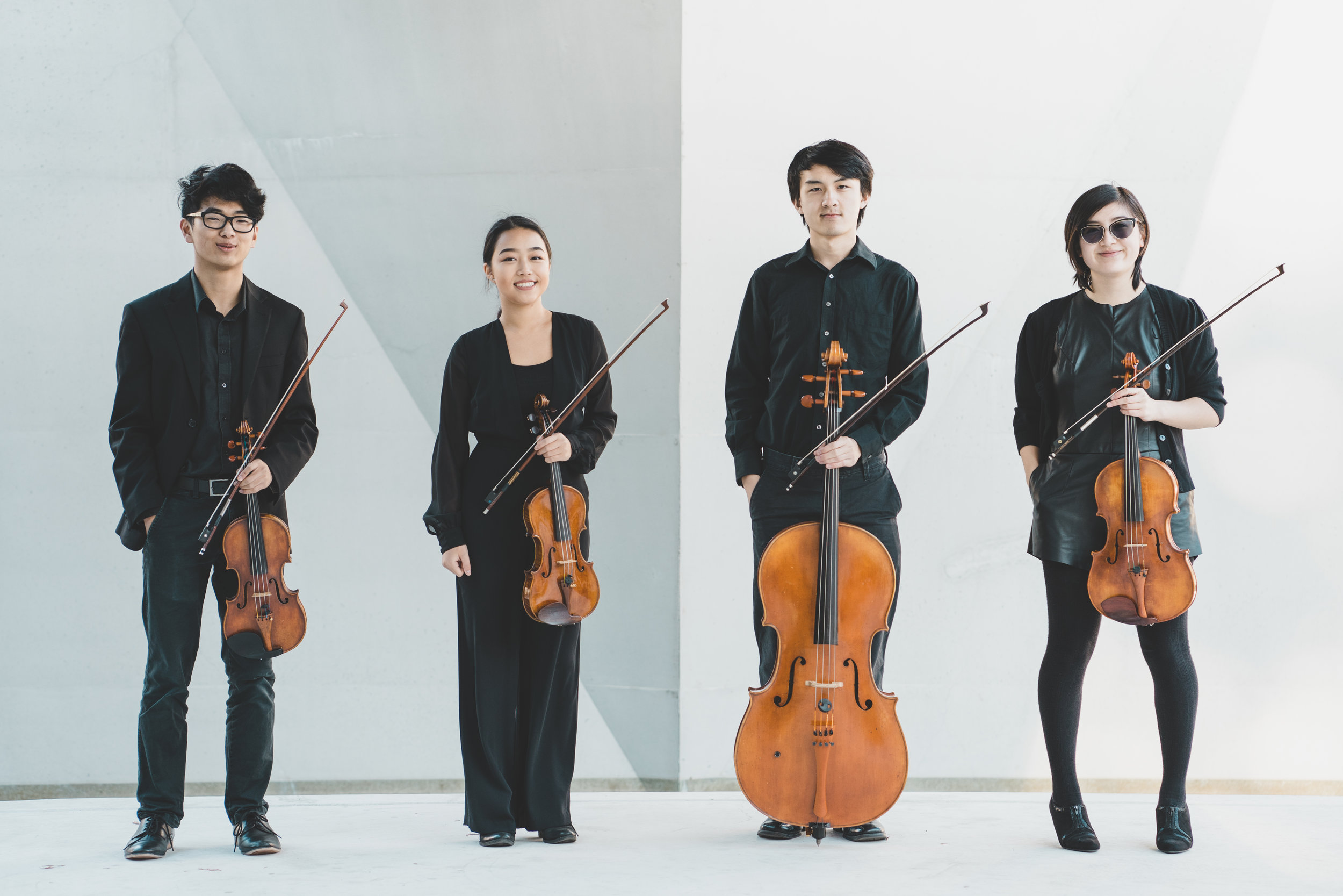 L to R: Kurt Chen, Yiyi Hsu, Adrian Pang, Amanda Pang