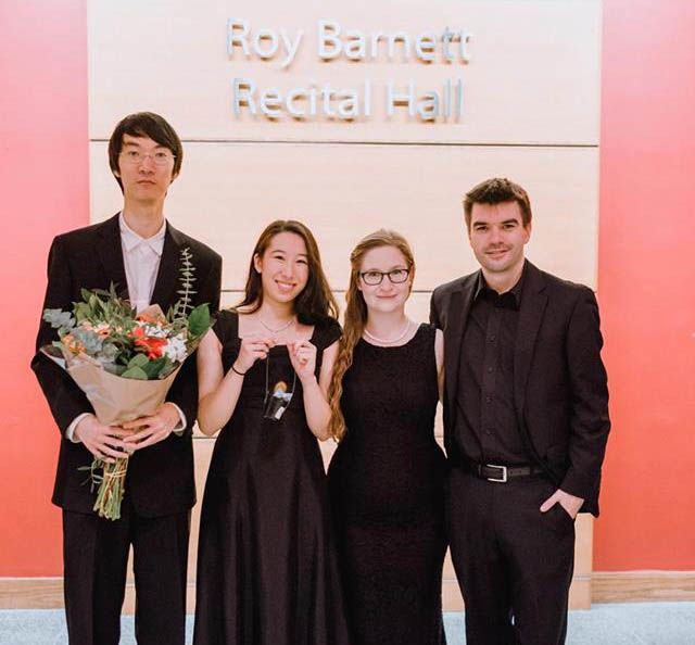 Azura Quartet's Mo Miao, Mia Gazeley, and Haley Heinricks.