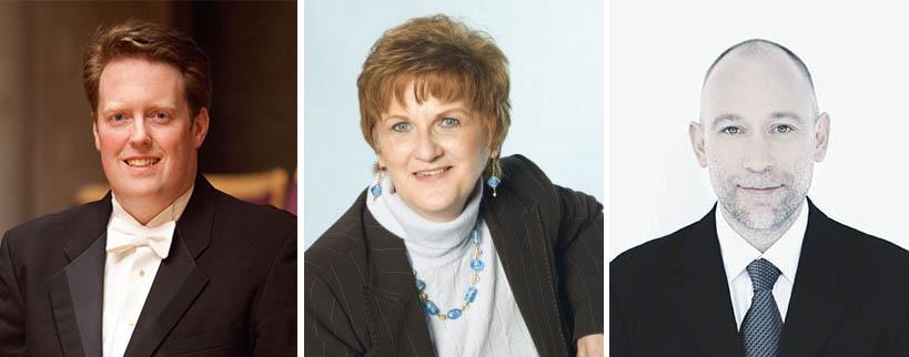 Left to right: Dr. Jonathan Girard, Prof. Nancy Hermiston, Alexander Weimann