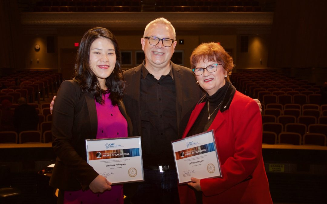 In November, director Prof. Nancy Hermiston won a Barbara Pentland Award of Excellent for the UBC Opera's many commissions, performances, and support of Canadian music.