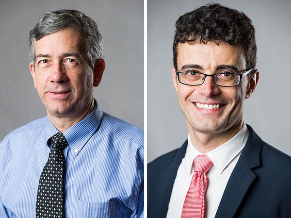 Prof. John Roeder and Assistant Prof. Claudio Vellutini