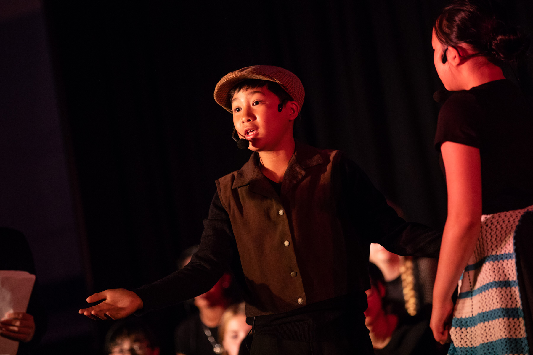 Elementary students perform one of Windsor-Liscombe's opera-musicals