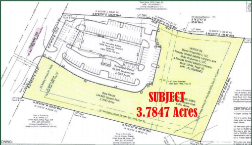 3.78 land survey for commercial property for sale in McDonough, GA