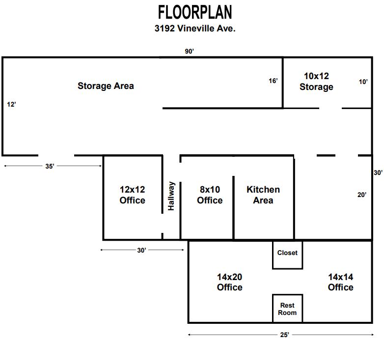 3192Vineville Ave Floorplan | GeorgiaCommercialRealEstate.net