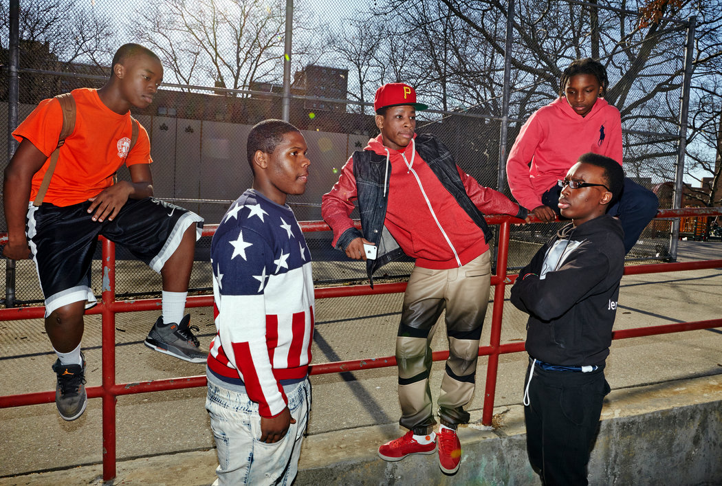 Teenaged boys of Brownsville, Brooklyn, one of New York's toughest neighborhoods. They let me tag along for a summer as I profiled them for The New York Times Magazine. Photo by   Brenda Ann Keannelly, 2014.