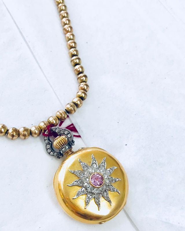 #oneofakinddesighn #rachelbrenmanjewelry #vintagegolddiamond #watchpendent