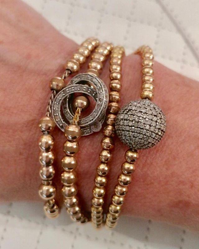 #bracelet #diamonds #gold #armcandy #belladorijewelry #fall2018 #modernvintage #finejewelry