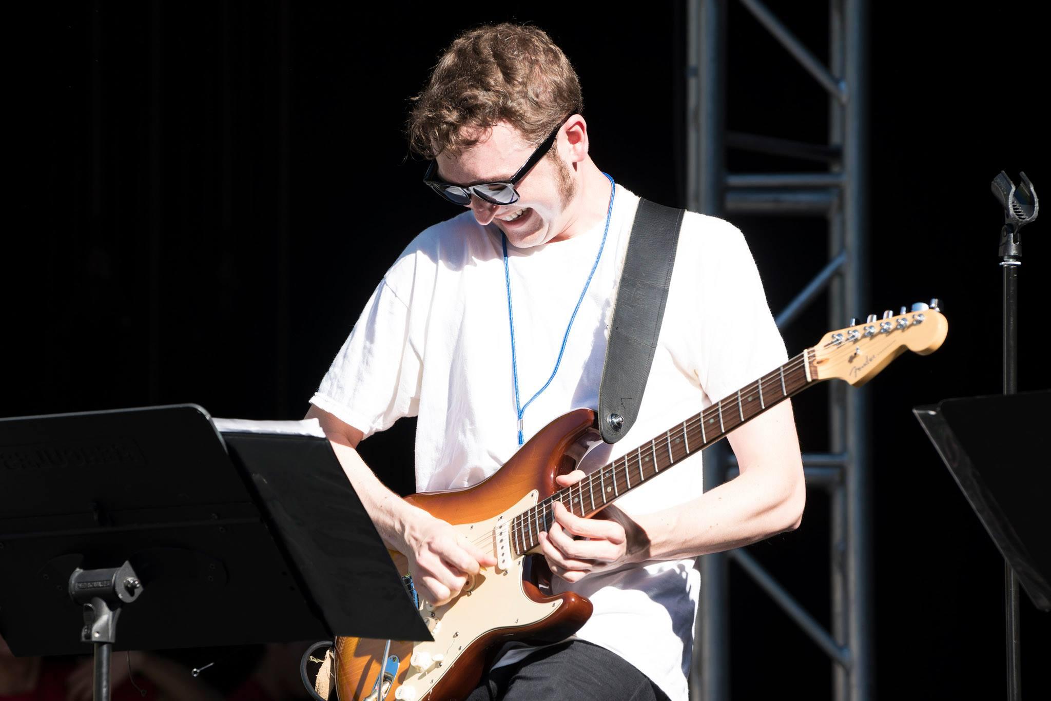 Soundchecking at the Starlight Bowl, Burbank, CA