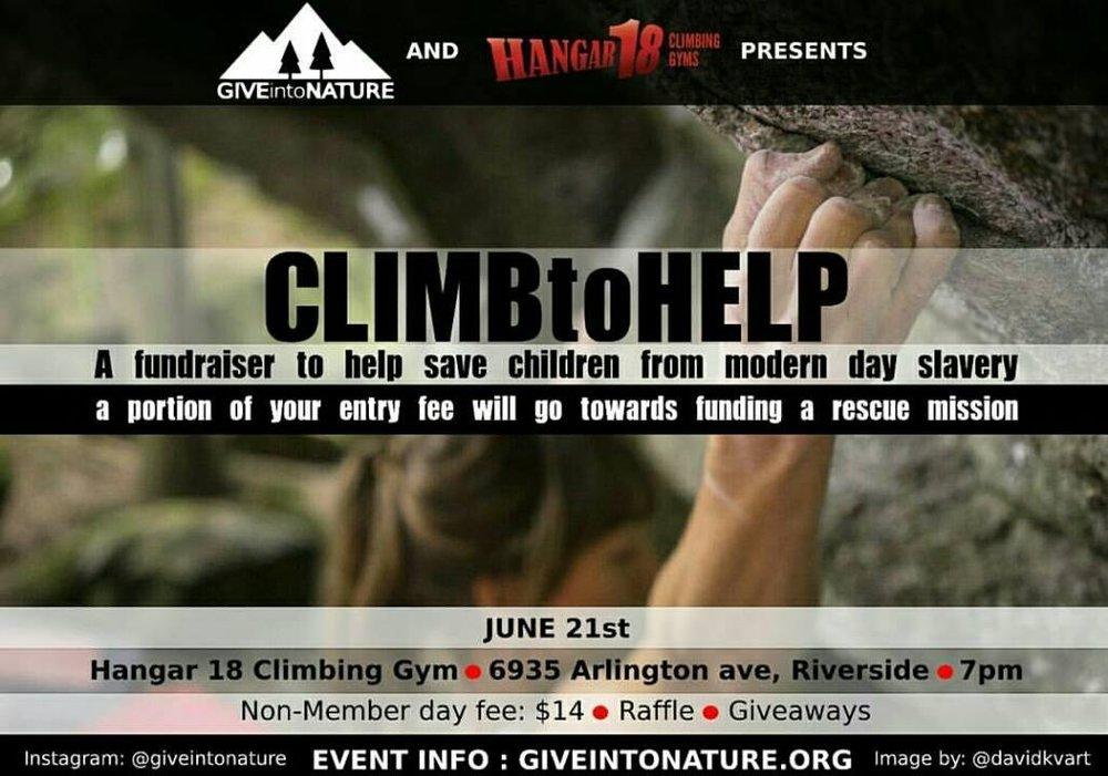 Climb to Help; O.U.R.