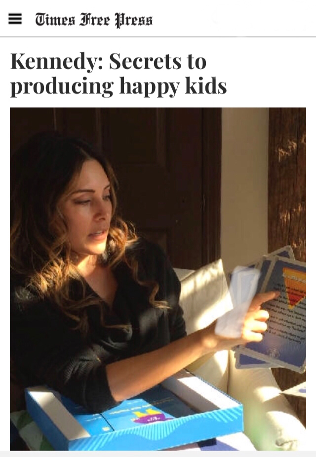 Times Free Press - End drama, the secrets of happy childrenDecember 2017 - We are thankful for the wonderful article, written by Mark Kennedy, in The Times Free Press. Mark was able to capture the passion Danielle Alvarez Greer has for teaching families how to resolve conflict and household drama, using a unique framework called The Happy Kid Toolkit.