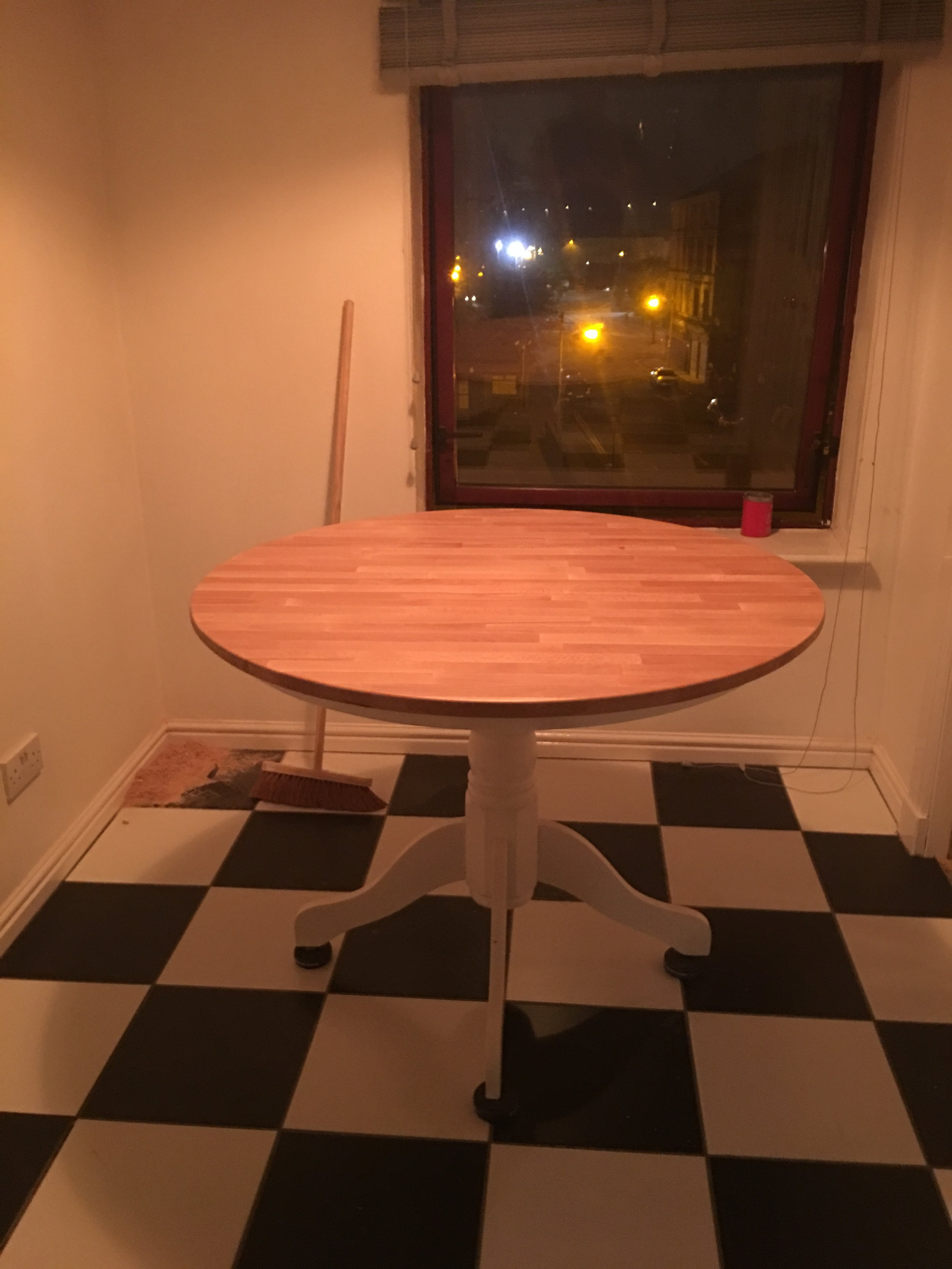 After the second coat has dried. Late at night so it would be dry by morning.
