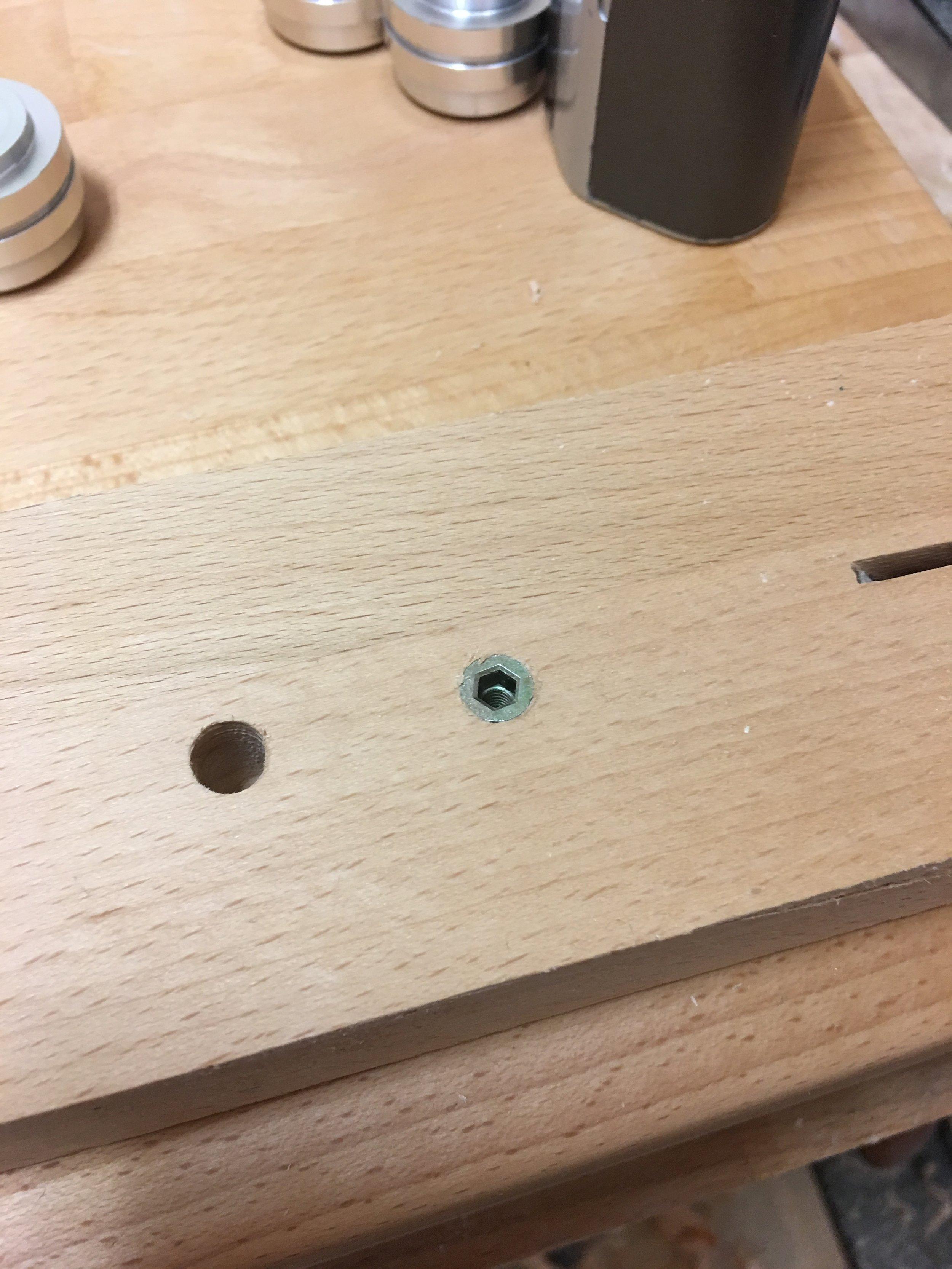 Test holes.