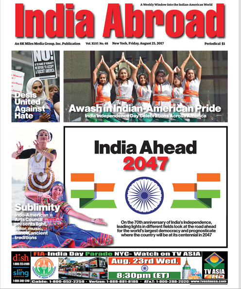 India Abroad - August 25th, 2017, New York City