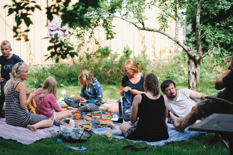 I början av augusti fick vi besök av våra vänner/ vardagsfamilj Emil och Stina och deras barn.