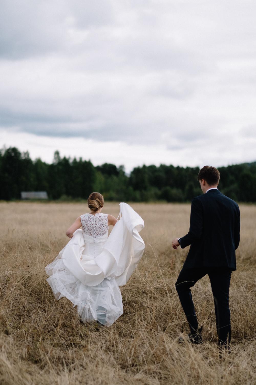 På hösten fotograferade jag ett par bröllop till och det var såklart fin på alla sätt och vis. Varje gång är det en nyp-mig-i-armen-stämning; TÄNK att jag får göra detta!